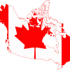 Flag map of greater canada