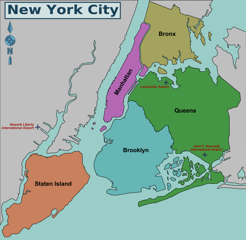 New york city district map